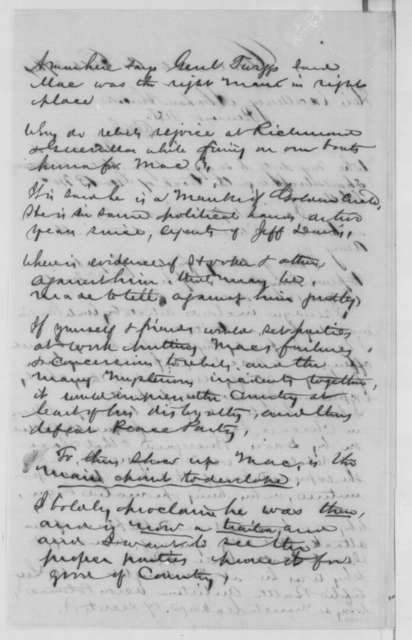 Edgar Conkling to Abraham Lincoln, Wednesday, September 28, 1864  (McClellan is a traitor)