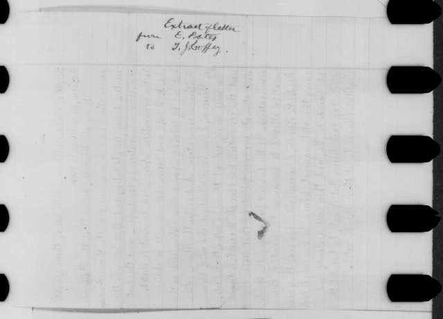 [Edward Bates] to [Titian J. Coffey], Saturday, June 25, 1864  (Extract of letter concerning Lincoln's re-nomination)