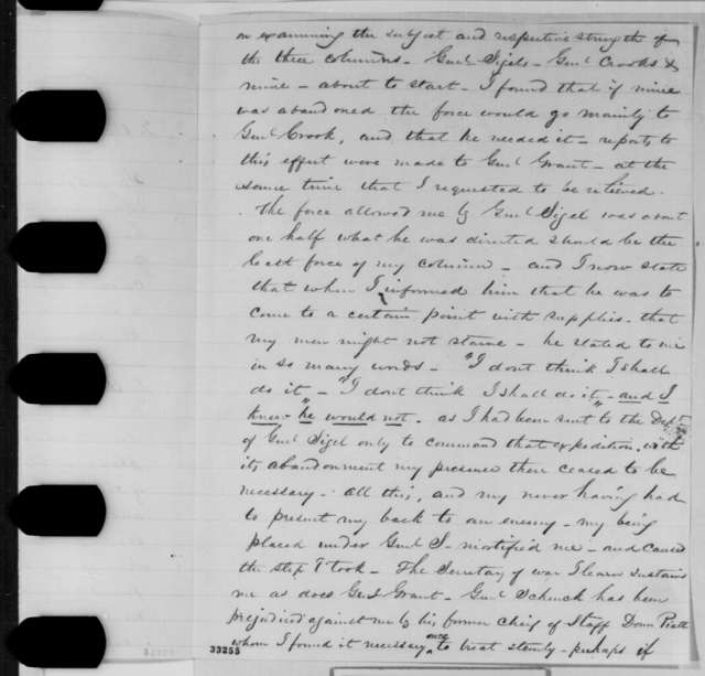 Edward O. C. Ord to William H. Seward, Monday, May 23, 1864  (Explanation for his request to be relieved of duty)