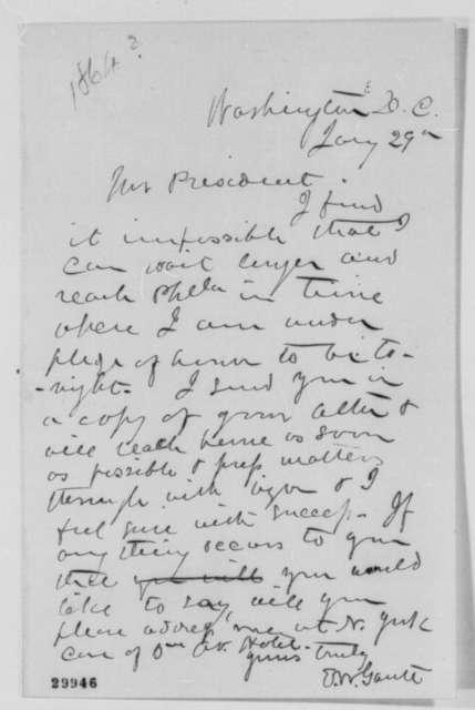 Edward W. Gantt to Abraham Lincoln, January 29 [1864]  (Affairs in Arkansas)