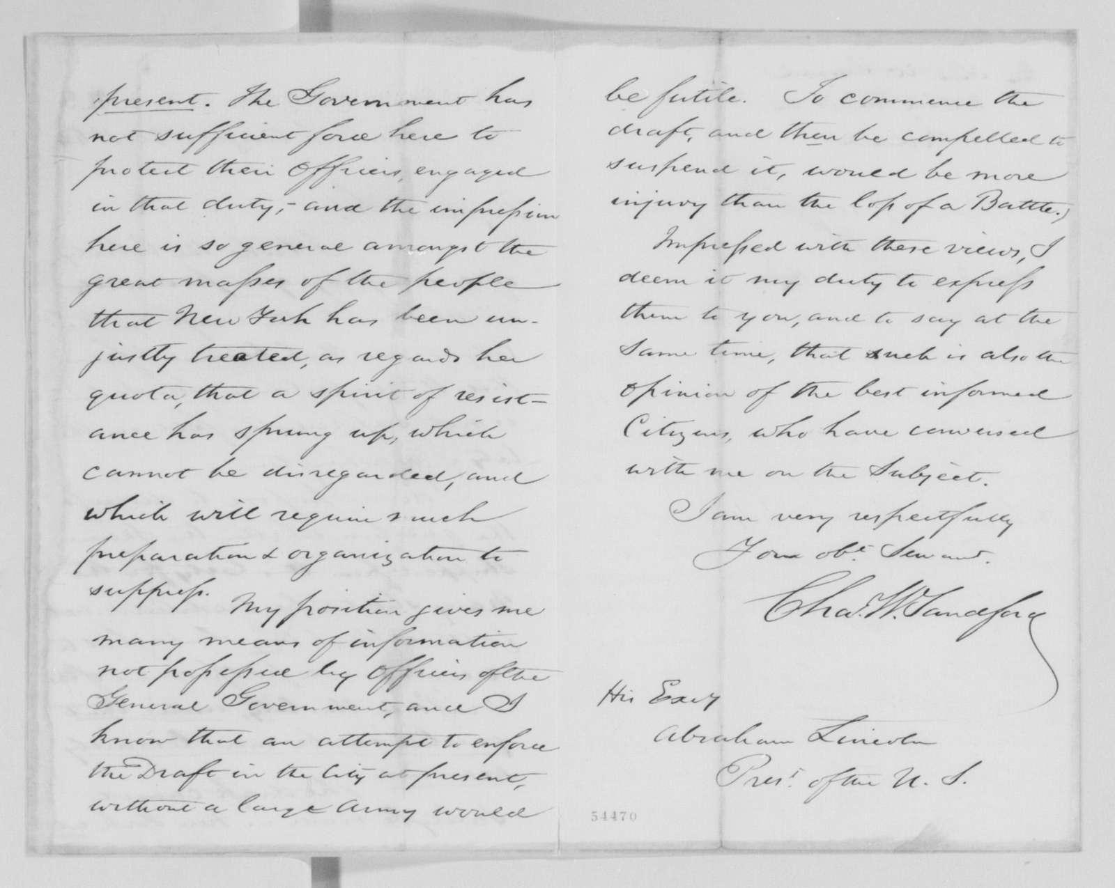 Edwin McMasters Stanton Papers: Correspondence, 1831-1870; 1864; 1864, Aug. 26-Oct. 31