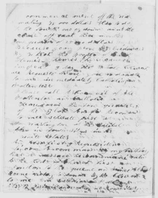 Elias Gove to Abraham Lincoln, Friday, January 01, 1864  (Requests $25,000; endorsed by Lincoln)