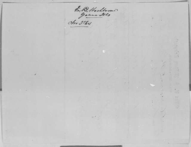Elihu B. Washburne to Abraham Lincoln, Thursday, November 03, 1864  (Telegram requesting furlough for Illinois soldiers at Camp Butler)