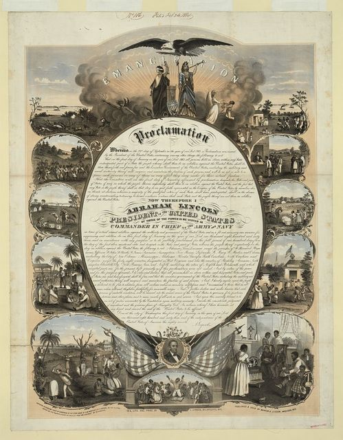 Emancipation Proclamation / del., lith. and print. by L. Lipman, Milwaukee, Wis.