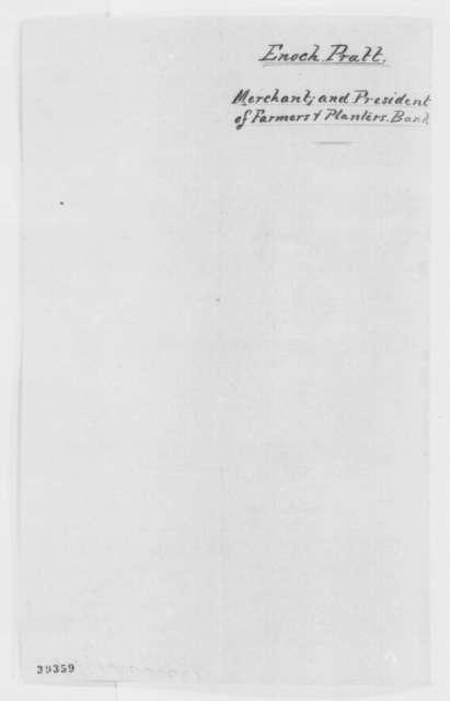 Enoch Pratt to William Chesnut, Monday, December 19, 1864  (Unable to go to Washington)