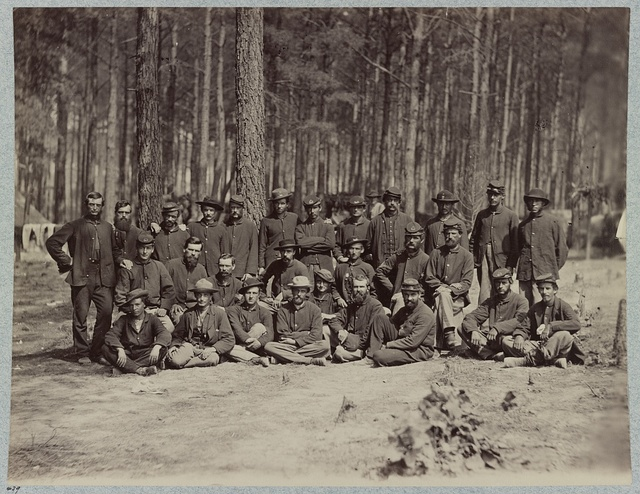 Essayon Dramatic Club, U.S. Engineer Battalion in front of Petersburg, Va., August, 1864