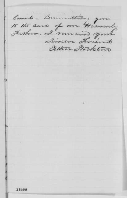 Esther Stockton to Abraham Lincoln, 1864  (Reply to Lincoln's letter of January 8, 1864)