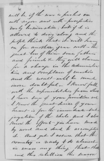 Ezra Graves to Abraham Lincoln, Friday, February 26, 1864  (Support for Lincoln's re-nomination)
