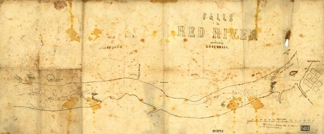Falls in Red River, surveyed by L. G. De Russy.