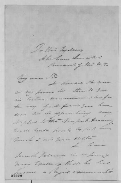 Fanny Williams to Abraham Lincoln, Saturday, October 08, 1864  (Appreciates nephew's appointment to Naval Academy)