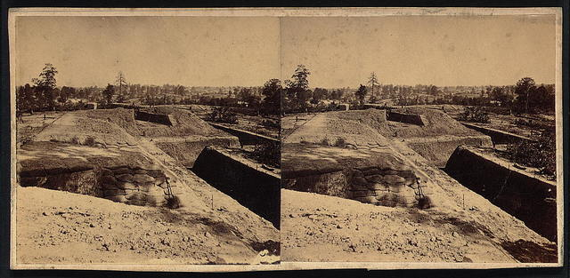 Federal fort no. 12, new lines. Built after the occupation of the city, looking east, Atlanta, Ga., Nov. 1864