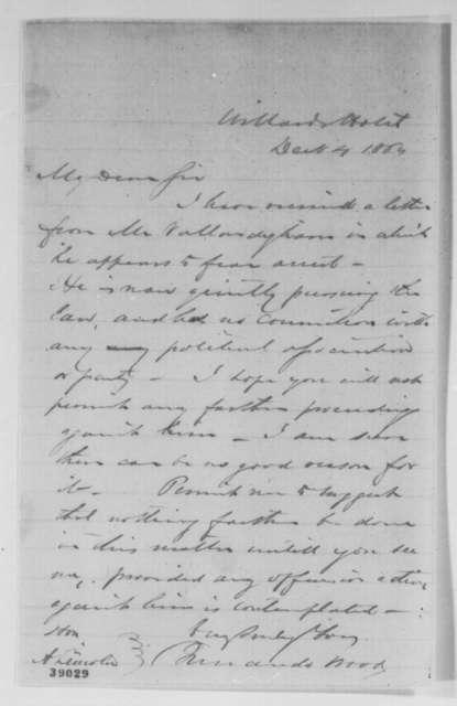 Fernando Wood to Abraham Lincoln, Sunday, December 04, 1864  (Clement L. Vallandigham)