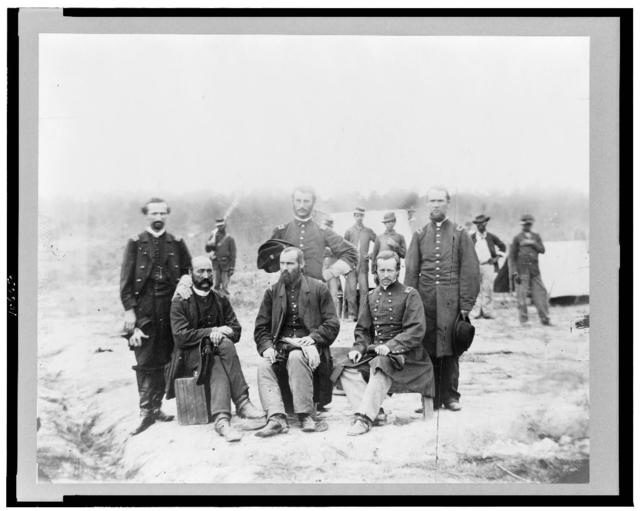 [Field and staff of 39th U.S. Colored infantry, in front of Petersburg, Va.]