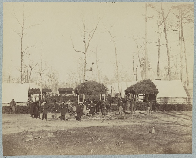 Field Hospital 2d Division, 2d Army Corps near Brandy Station, Va., March, 1864