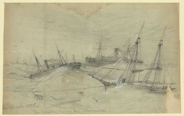 For Ft. Fisher direct. The Expedition leaving the Chesapeake