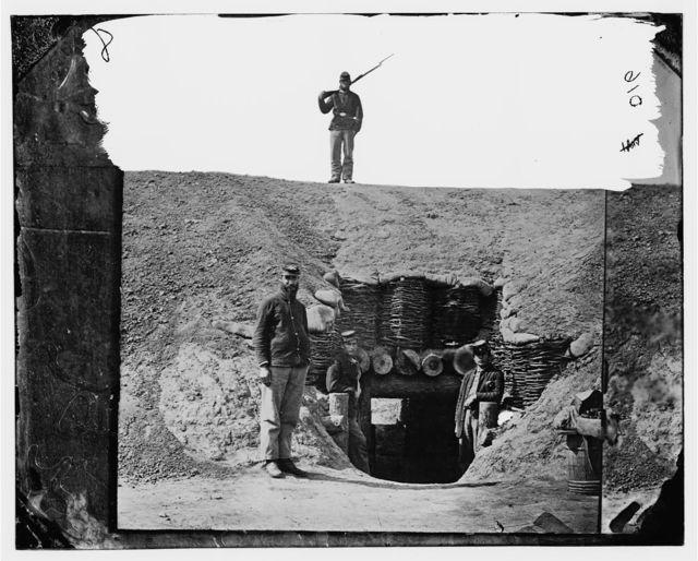[Fort Brady, Va. Entrance to magazine]