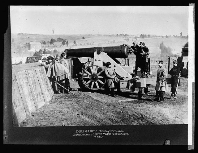 Fort Gaines, Tenleytown, D.C., detachment of New York Volunteers, 1864