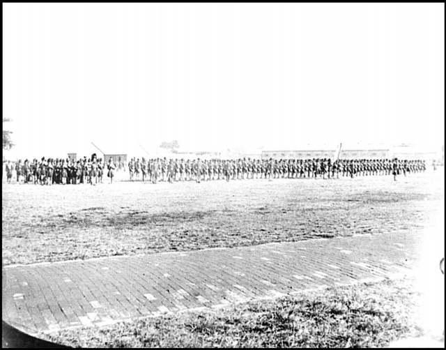 [Fort Monroe, Va. 3d Pennsylvania Heavy Artillery on parade]