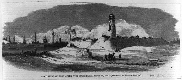 Fort Morgan just after the surrender, August 23, 1864