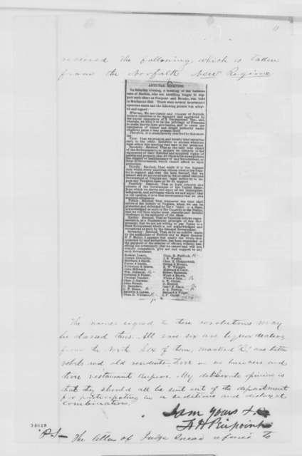 Francis H. Peirpoint to Abraham Lincoln, Saturday, June 25, 1864  (Affairs at Norfolk, Virginia)