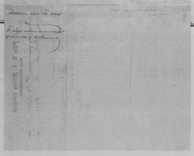 Franz Sigel to Abraham Lincoln, Friday, September 16, 1864  (Telegram acknowledging Lincoln's dispatch)