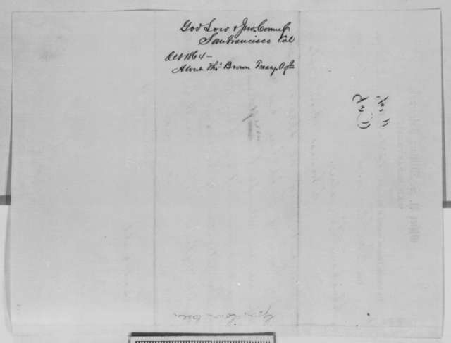 Frederick F. Low and John Conness to Abraham Lincoln, Tuesday, October 18, 1864  (Telegram regarding conduct of Thomas Brown)