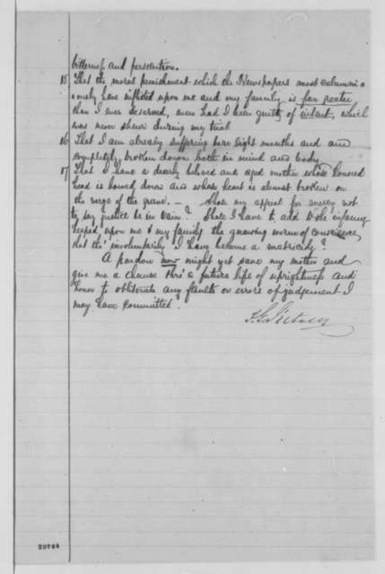 Frederick G. d'Utassy to Abraham Lincoln, Friday, January 22, 1864  (Request for pardon; includes copy of d'Utassy's court martial proceedings)