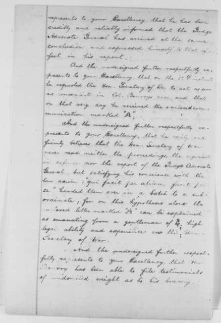 Frederick Schmidt to Abraham Lincoln, Monday, February 22, 1864  (Case of Gotthilf Bourry)