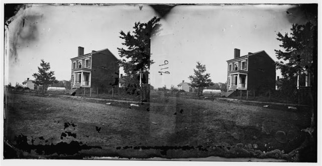 Fredericksburg, Virginia. Dr. Lawrence's house on Carolina Street, showing the effect of the shelling on the 13th of December 1862