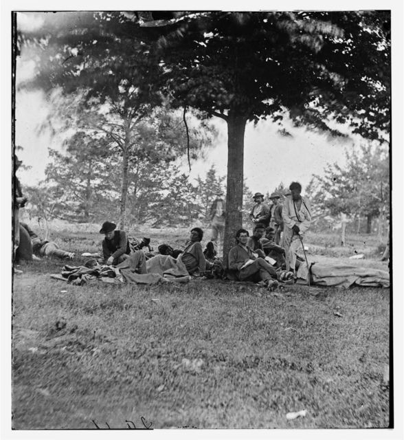 Fredericksburg, Virginia. Wounded Indians from the Wilderness on Marye's Heights
