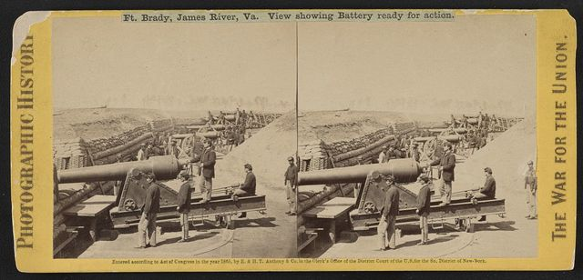 Ft. Brady, James River, Va. View showing battery ready for action