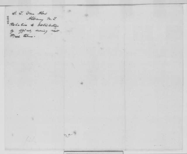 G. T. Van Alen to Abraham Lincoln, Tuesday, September 27, 1864  (Patronage)