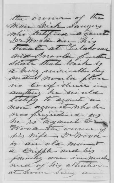 G. W. Sawyers to Abraham Lincoln, Wednesday, July 20, 1864  (Case of John Wood)