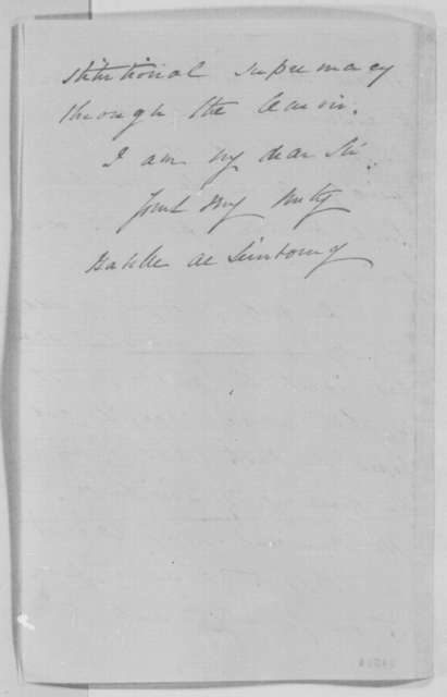 Gabelle De Simbourg to Montgomery Blair, Saturday, July 16, 1864  (Lewis Cass supports Lincoln)