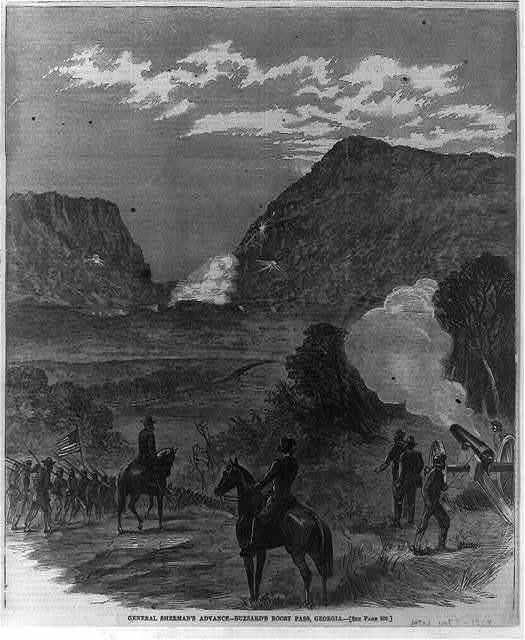 General Sherman's advance - Buzzard's Roost Pass, Georgia