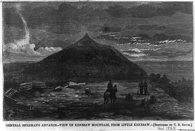 General Sherman's advance - view of Kenesaw Mountain, from Little Kenesaw