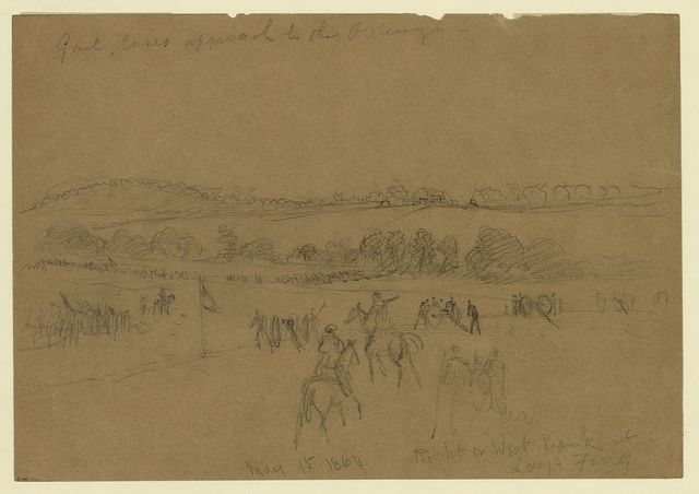Genl. Cases approach to the Ostenugua [sic]. May 15, 1864. Right or West Bank at Lays Ferry