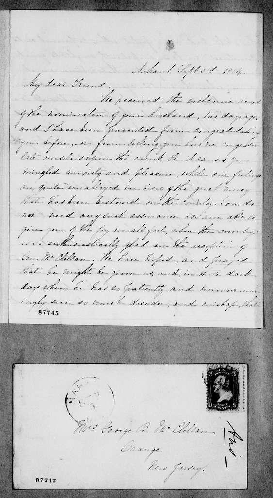 George Brinton McClellan Papers: Correspondence II, 1823-1898; 1864; Sept. 1-5