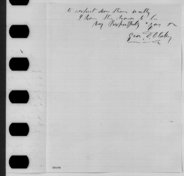 George D. Blakey to Abraham Lincoln, Saturday, June 25, 1864  (Case of Patrice de Janon)