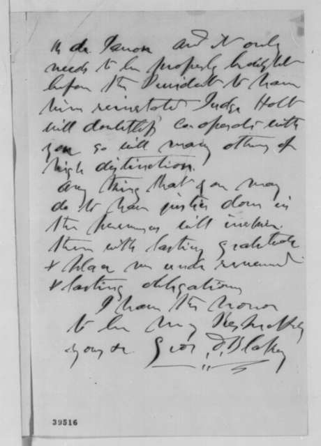 George D. Blakey to James Speed, Saturday, December 24, 1864  (Introduction)
