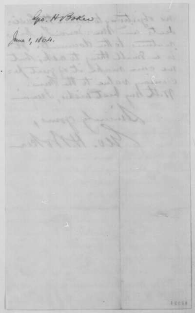 George H. Boker to John G. Nicolay, Wednesday, June 01, 1864  (Autograph copies of Emancipation Proclamation)
