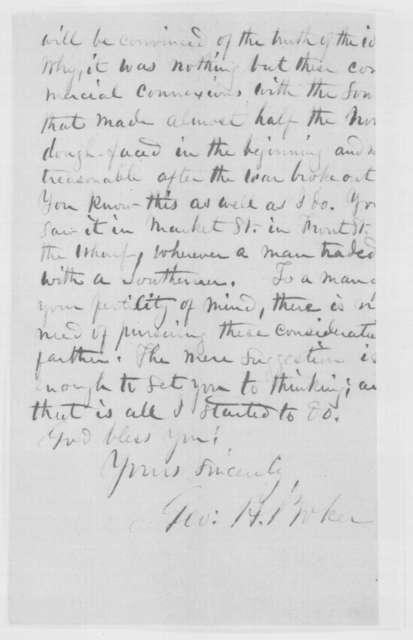 George H. Boker to John W. Forney, Monday, November 21, 1864  (Politics)