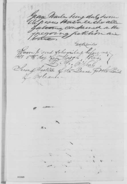 George Wailes to Benjamin F. Flanders, Saturday, March 05, 1864  (Petition requesting return of property; with endorsements)