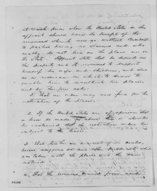 George Wailes, Wednesday, June 29, 1864  (Affidavit; endorsed by Isidore McCormick)