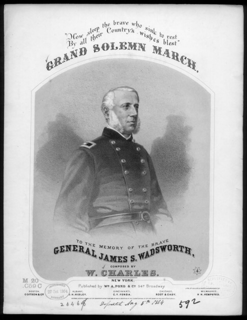 Grand solemn march, in memory of Gen. Wadsworth