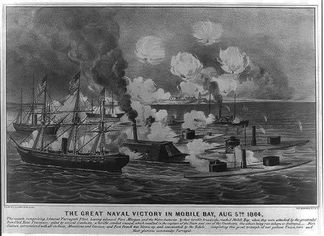 Great naval victory in Mobile Bay, Aug. 5th 1864