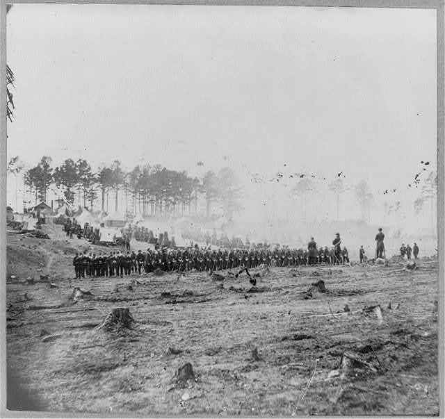 Guard mounting, 114th Pa. Infantry, Headquarters, Army of Potomac, Brandy Station, Va., April 1864