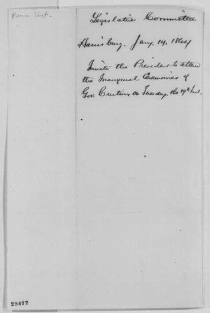 H. C. Alleman, et al. to Abraham Lincoln, Thursday, January 14, 1864  (Printed invitation)