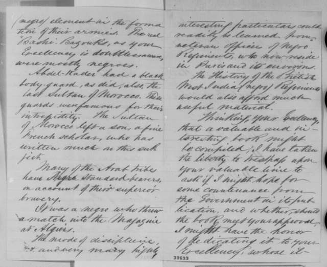 H. L. Williams to Abraham Lincoln, Tuesday, April 26, 1864  (Seeks government assistance for book on African soldiers)