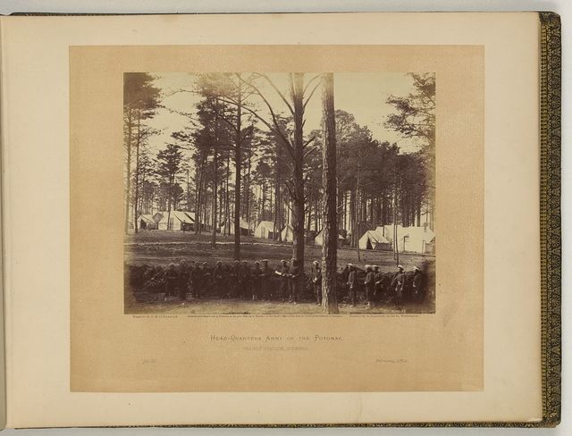 Head-quarters, Army of the Potomac, Brandy Station, Virginia / negative by T.H. O'Sullivan, positive by A. Gardner.